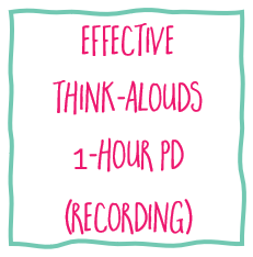 Think alouds online PD